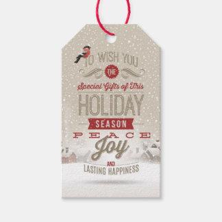 Étiquettes-cadeau Paquet de souhaits de Noël d'étiquettes de cadeau