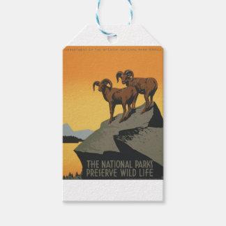 Étiquettes-cadeau Parcs nationaux Amérique Etats-Unis d'affiche