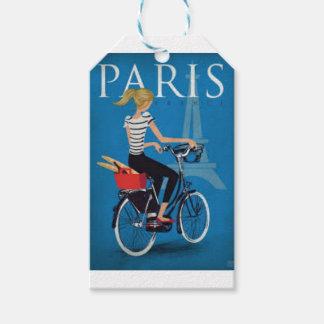 Étiquettes-cadeau Paris à Vélo