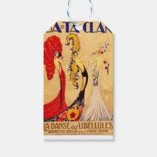Étiquettes-cadeau Paris Bataclan Vintage