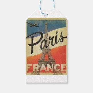 Étiquettes-cadeau Paris France Vintage