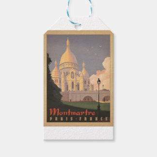 Étiquettes-cadeau Paris Montmartre Vintage