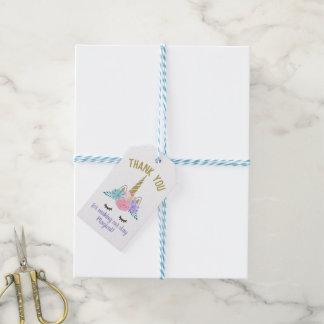 Étiquettes-cadeau Parties scintillantes d'or d'étiquette de cadeau