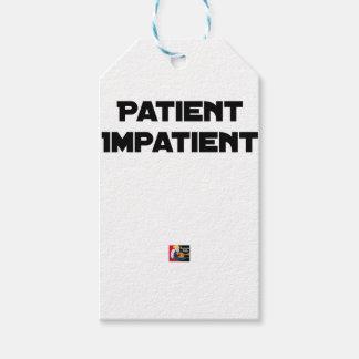 Étiquettes-cadeau PATIENT IMPATIENT - Jeux de mots - Francois Ville