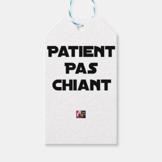 Étiquettes-cadeau Patient pas Chiant - Jeux de Mots - Francois Ville