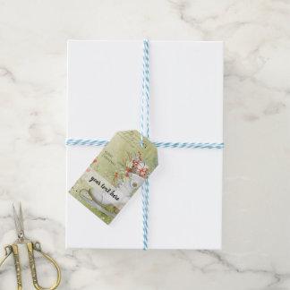 Étiquettes-cadeau Patinage de glace de Noël