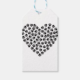 Étiquettes-cadeau Pattes d'amour