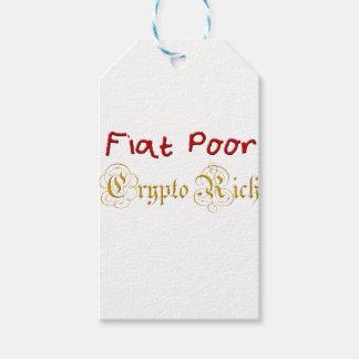 Étiquettes-cadeau Pauvres cryptos riches de Fiat