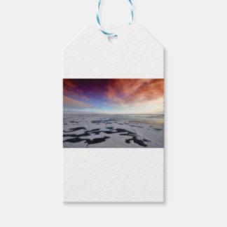 Étiquettes-cadeau Paysage d'Arctique de Noël