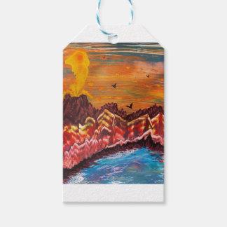 Étiquettes-cadeau Paysage du volcan de tabagisme