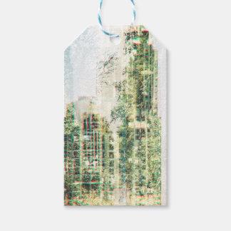 Étiquettes-cadeau Paysage urbain et forêt