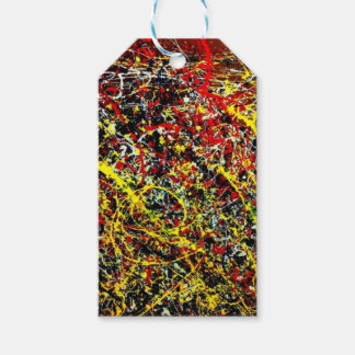 Étiquettes-cadeau Peinture originale de Jackson Pollock