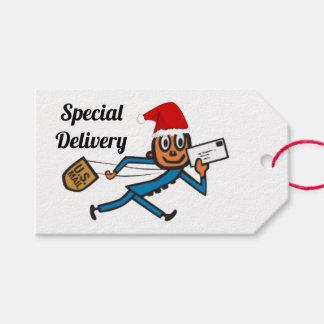 Étiquettes-cadeau Père Noël postal nostalgique