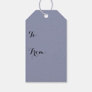 Étiquettes-cadeau Personnaliser grise calme de couleur solide il