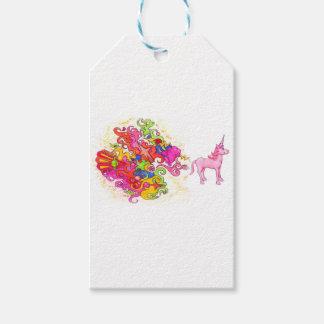 Étiquettes-cadeau Pet de licorne