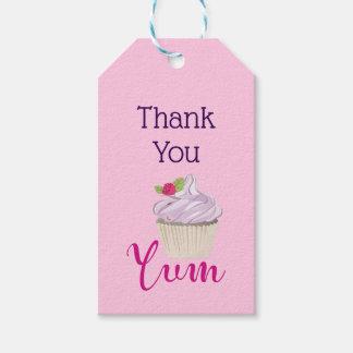 Étiquettes-cadeau Petit gâteau givré par rose Yum ! Merci