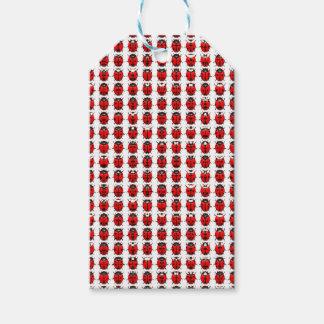 Étiquettes-cadeau Petites coccinelles rouges