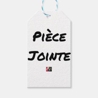Étiquettes-cadeau PIÈCE JOINTE - Jeux de mots - Francois Ville