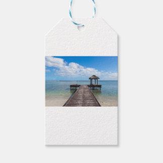 Étiquettes-cadeau Pilier dans le flac flic îles Maurice d'en d'océan