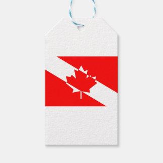 Étiquettes-cadeau Piqué blanc rempli Canada