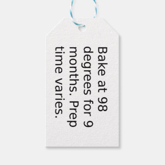 Étiquettes-cadeau Plaisanterie de bébé - faites cuire au four à 98