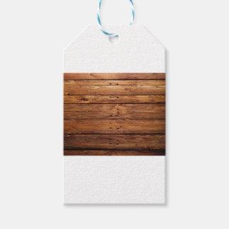 Étiquettes-cadeau plancher en bois