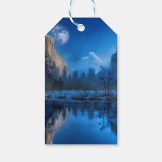 Étiquettes-cadeau Pleine lune dans Yosemite