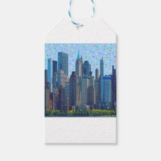 Étiquettes-cadeau Pluie de météores de New York City