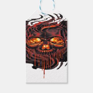 Étiquettes-cadeau Png rouge sanglant de squelettes