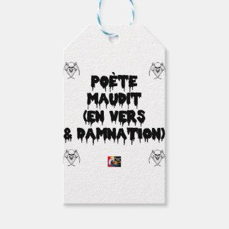 Étiquettes-cadeau Poète maudit (EN VERS ET DAMNATION) - Jeux de Mots