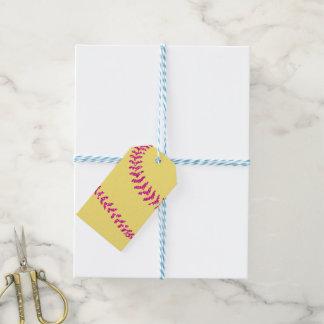 Étiquettes-cadeau Points du base-ball de parties scintillantes de