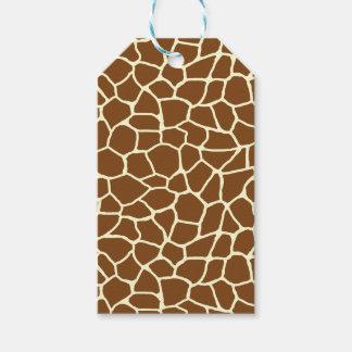 Étiquettes-cadeau Poster de animal sauvage de motif de girafe