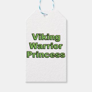 Étiquettes-cadeau Princesse de guerrier de Viking