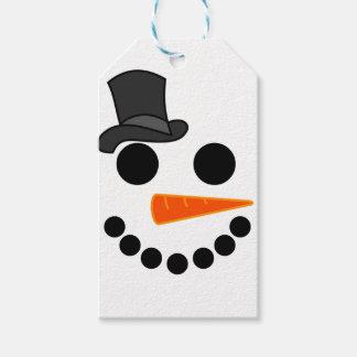 Étiquettes-cadeau Produits de garçon de bonhomme de neige