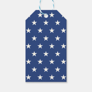 Étiquettes-cadeau Profil sous convention astérisque bleu et blanc