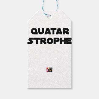 Étiquettes-cadeau QUATAR STROPHE - Jeux de mots - Francois Ville