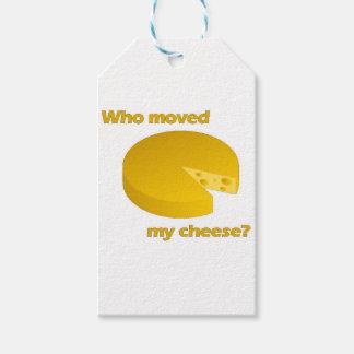 Étiquettes-cadeau Qui a déplacé le fromage