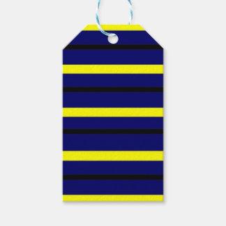 Étiquettes-cadeau Rayure bleu-foncé de Derby