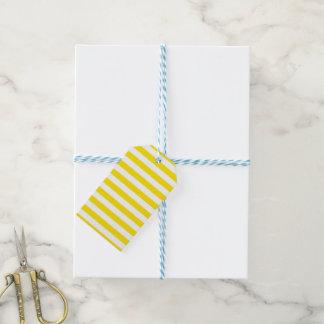 Étiquettes-cadeau Rayures jaunes horizontales