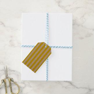 Étiquettes-cadeau Rayures jaunes verticales