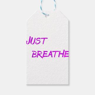 Étiquettes-cadeau Respirez juste