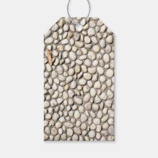 Étiquettes-cadeau Roches en pierre de trottoir de passage couvert de