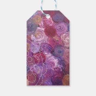 Étiquettes-cadeau Roses pourpres