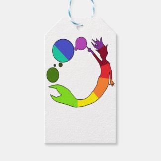 Étiquettes-cadeau Roue de couleur de sirène