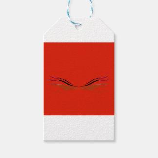 Étiquettes-cadeau Rouge de mandala de conception