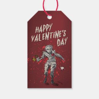 Étiquettes-cadeau Saint-Valentin drôle de zombi