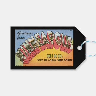 Étiquettes-cadeau Salutations de Minneapolis