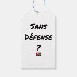 Étiquettes-cadeau SANS DÉFENSE ? - Jeux de mots - Francois Ville
