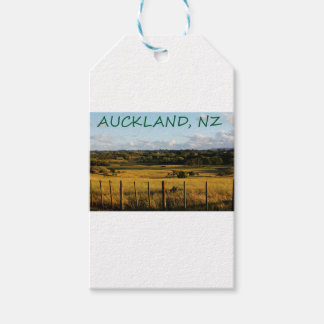 Étiquettes-cadeau Scène d'or de paysage