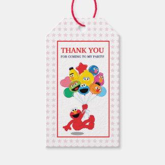 Étiquettes-cadeau Sesame Street   Elmo et copains - ballons